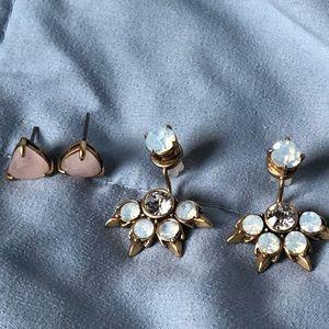EUC 6 in 1 Stella & Dot Eva ear jacket earrings